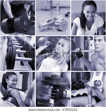Sports  lifestyle concept. People in the gym.