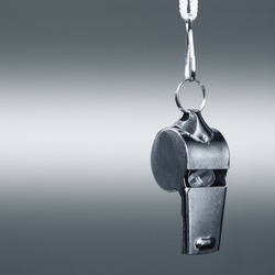 sports metal whistle closeup