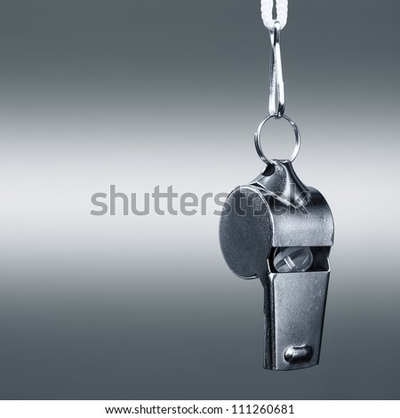 sports metal whistle closeup