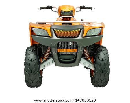 Sports quad bike isolated on a light background Stock photo ©