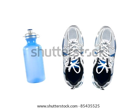 Sports runners isolated against a white background