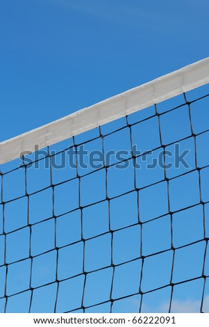 Sports stretched mesh against the blue sky. Texture, background
