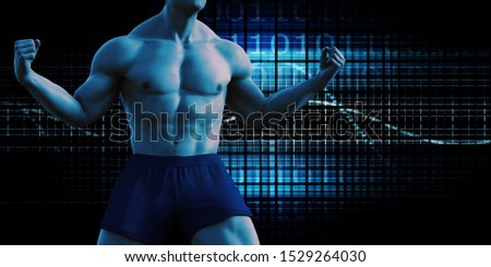 Sports Tech Innovation with Technology Background Theme 3d Render