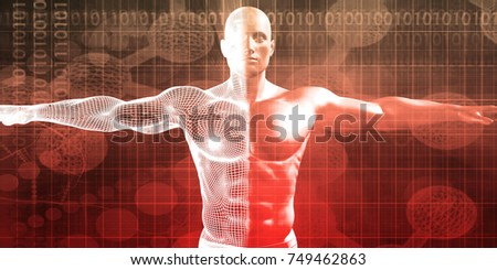 Sports Wellness and Medicine as a Background 3D Render