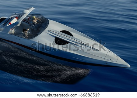 Sports yacht racing on the sea