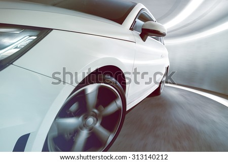 Sportscar in Tunnel