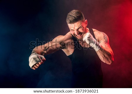 BLUE /& YELLOW THAI BOXING MUAY THAI FIGHTERS PRA JEAD
