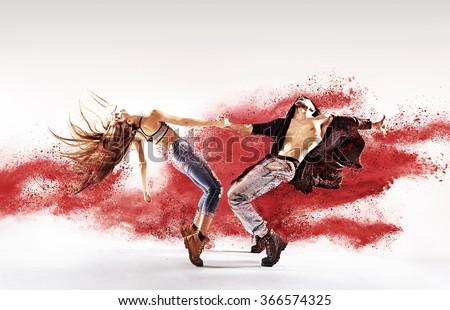 Sporty hip-hop dancers Сток-фото ©