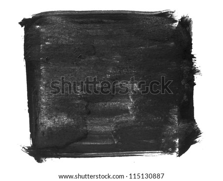 spot art watercolor black square texture isolated on a white background