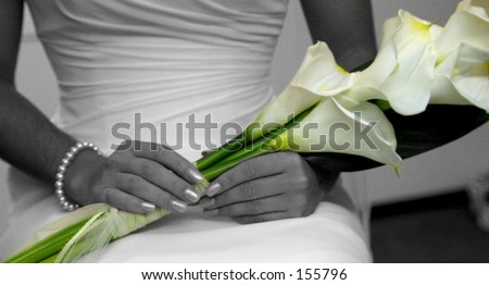 spot colored wedding image