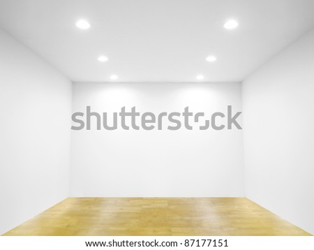 Spot light and blank wall