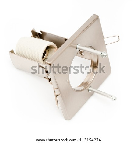 Spot lights isolated on a white background - stock photo