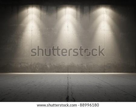 spotlight illuminate grungy...