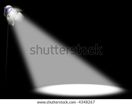 Spotlight. Image concept of something of prominence. You can place any thing in the light.