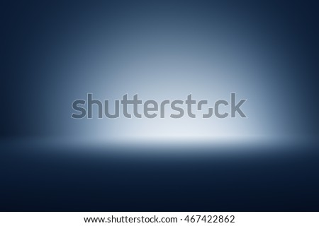 Spotlight on dark grey gradient abstract background / black-gray room studio background