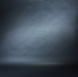 Spotlight studio interior, black background