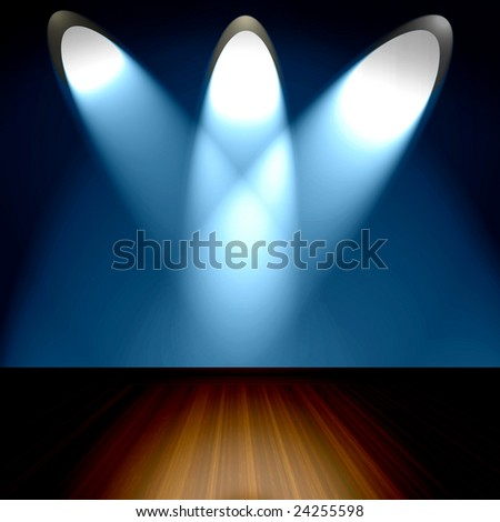 Spotlights On Stage