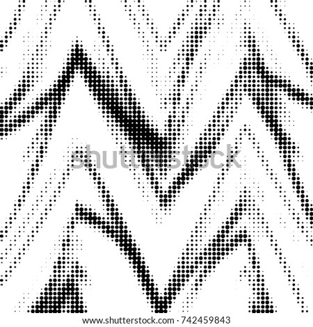 Spotted black and white grunge line background. Abstract halftone illustration background. Grunge grid polka dot background pattern #742459843
