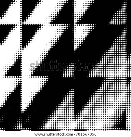 Spotted black and white grunge line background. Abstract halftone illustration background. Grunge grid polka dot background pattern  #781567858