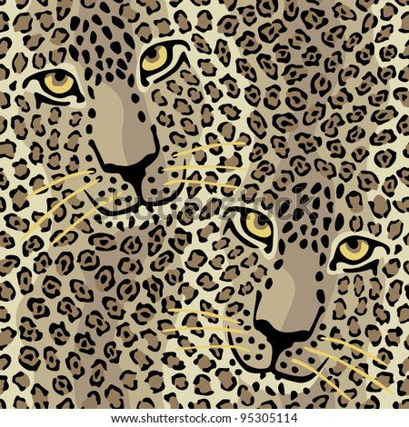 Spotted Cats pattern repeats seamlessly.