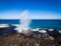 Spouting Horn Park, Poipu, Kauai, Hawaii