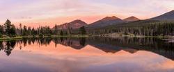 Sprague Lake - A colorful Summer evening at scenic Sprague Lake, Rocky Mountain National Park, Colorado, USA.