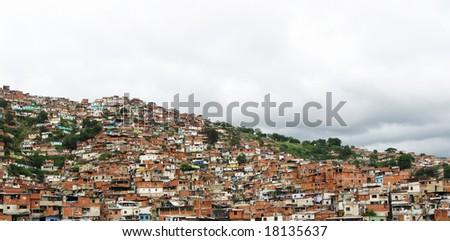 Sprawling ghetto of  Caracas, Venezuela