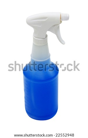 Spray bottle with clipping path.