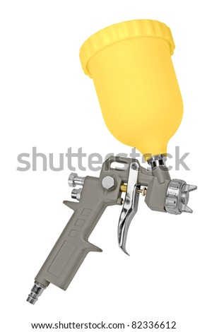 spray gun to paint. isolated on a white background.