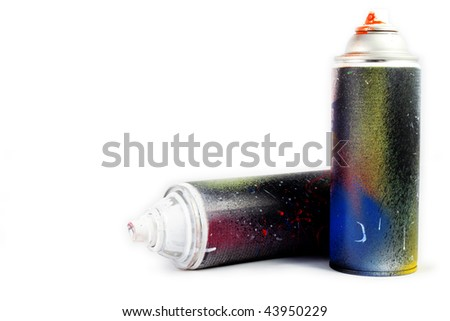 spray paint on white