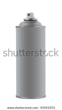 Spray tin on white background