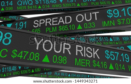 Spread Out Your Risk Diversify Portfolio Stock Market Investment 3d Illustration Stock photo ©