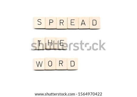 spread the word word on white background