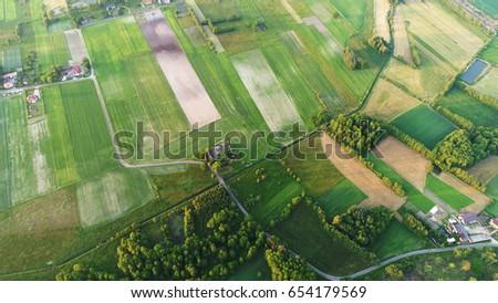 Spring aerial landscape #654179569