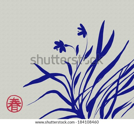 spring asian flowers art on canvas