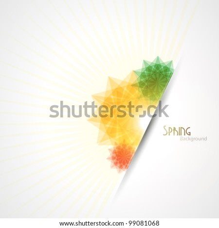 Spring background. - stock photo