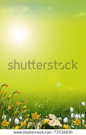 Spring background, portrait