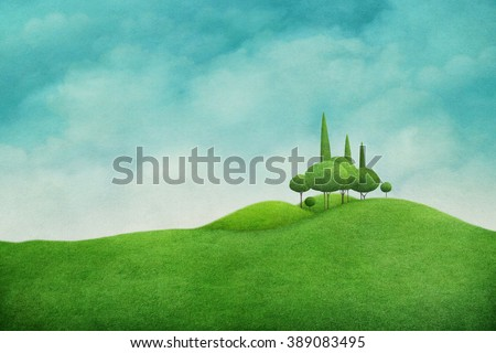 Spring background with beautiful  nature  for greeting card and illustration