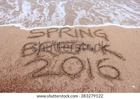 Spring Break 2016 Sand Writing