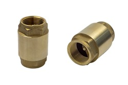 Spring Check Valve in different angles isolated on a white background.