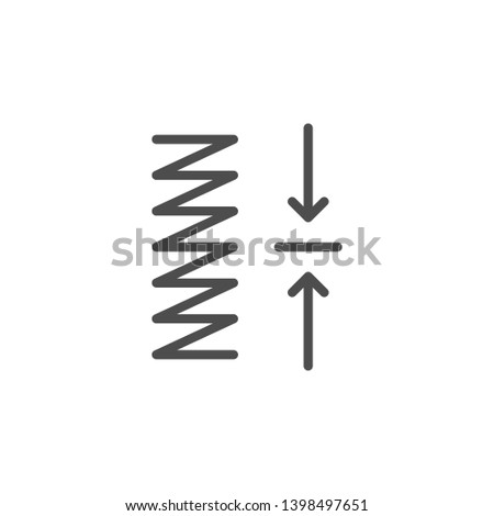 Spring compression line icon isolated on white