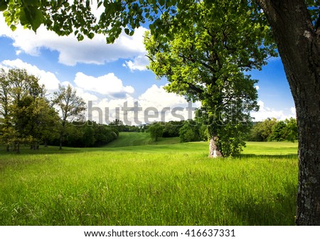 spring country landscape #416637331