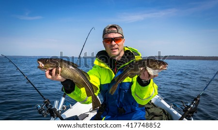 Spring fishing cod scenery #417748852