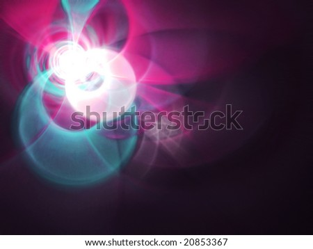 Spring Fling - 3D fractal landscape - stock photo