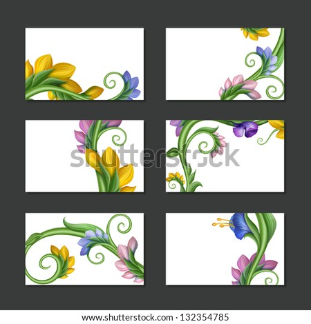 spring flower labels and...