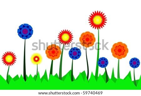 spring flowers  ( vector version in portfolio )