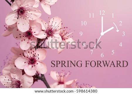 Spring Forward / Daylight Saving Time Begins / Mauve Background