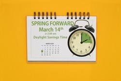 Spring Forward Daylight Savings Time March 14 Alarm clock