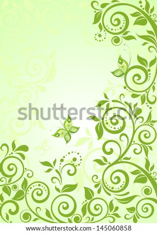 spring green vertical banner