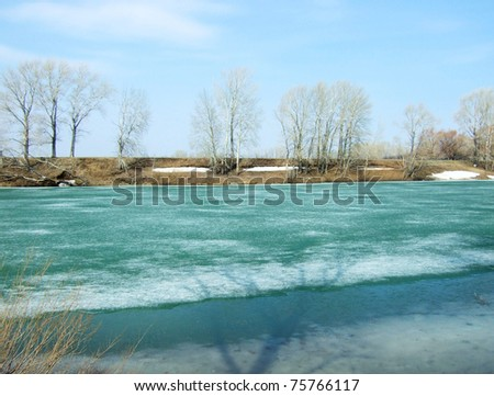 spring ice on a river
